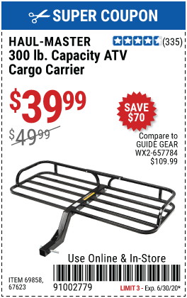 300 lb. Capacity ATV Cargo Carrier