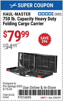 750 lb. Capacity Heavy Duty Folding Cargo Carrier