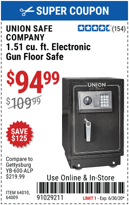 1.51 cu. ft. Electronic Lock Gun Floor Safe