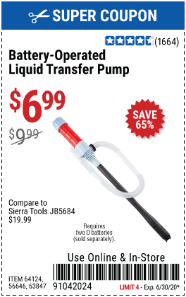 Battery Operated Liquid Transfer Pump