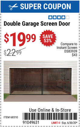 Double Garage Screen Door