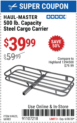 500 lb. Steel Cargo Carrier