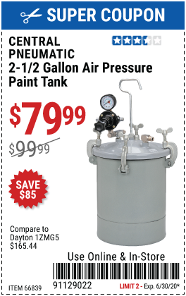 2-1/2 gal. Air Pressure Paint Tank