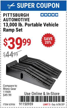 13,000 Lb. Portable Vehicle Ramp Set