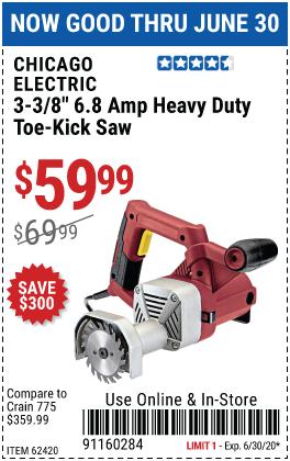 3-3/8 in. 6.8 Amp Heavy Duty Toe-Kick Saw