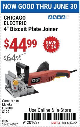 4 in. Biscuit Plate Joiner