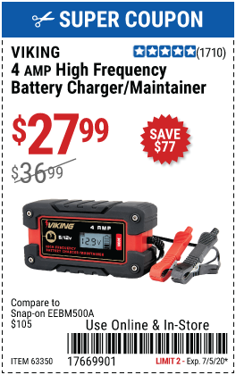 4A Fully Automatic Microprocessor Controlled Battery Charger/Maintainer