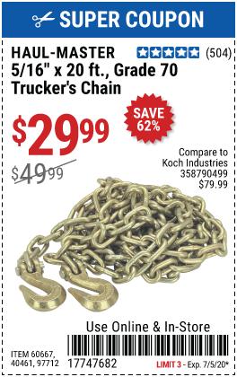 5/16 in. x 20 ft. Grade 70 Trucker's Chain