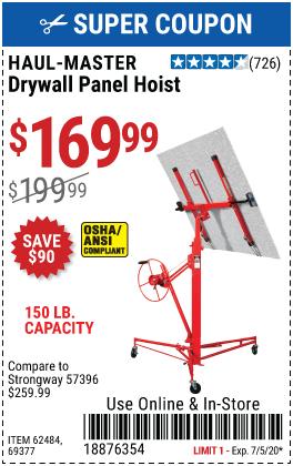 Drywall Panel Hoist / Lift