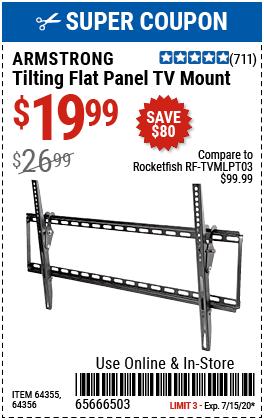 Large Tilt Flat Panel TV Mount