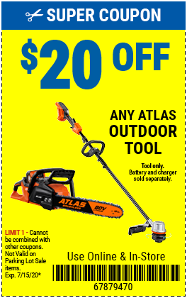 $20 off any Atlas Outdoor Bare Tool