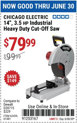 14 in. 3.5 HP Heavy Duty Cut-Off Saw