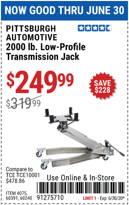 2000 lbs. Low-Profile Transmission Jack