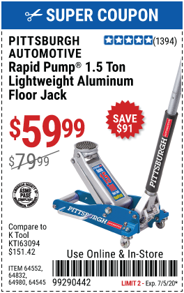 1.5 Ton Aluminum Rapid Pump® Racing Floor Jack