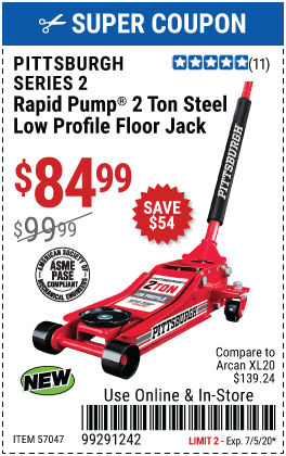 2 ton Low Profile Rapid Pump® Floor Jack