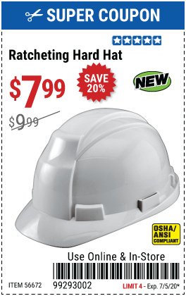 Ratcheting Hard Hat