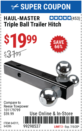 TRIPLE BALL TRAILER HITCH