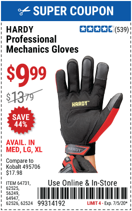 Professional Mechanics Gloves Large