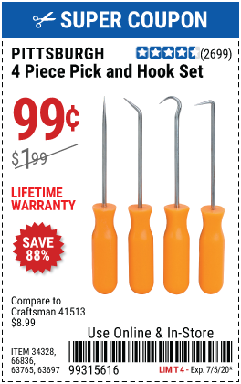 Mini Pick and Hook Set