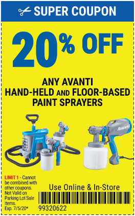 20% off Avanti Paint Sprayers