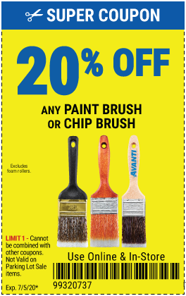20% off Any Paint Brush Or Chip Brush