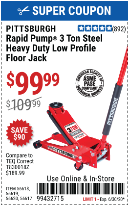 3 Ton Low Profile Rapid Pump® Floor Jack