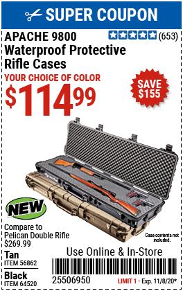 9800 Weatherproof Protective Rifle Case - Long Black