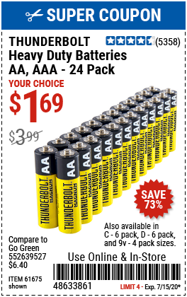 C Heavy Duty Batteries, 6 Pk.