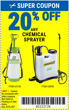 20% off Garden Sprayers (5ea)