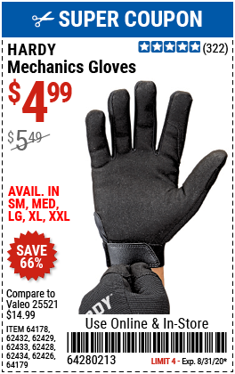Mechanics Gloves X-Large