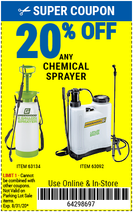 20% off Garden Sprayers (5ea)