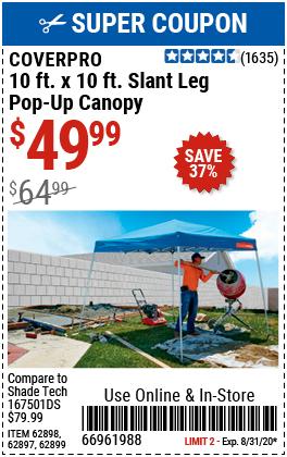 10 ft. x 10 ft. Slant Leg Pop-Up Canopy