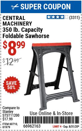 Foldable Sawhorse