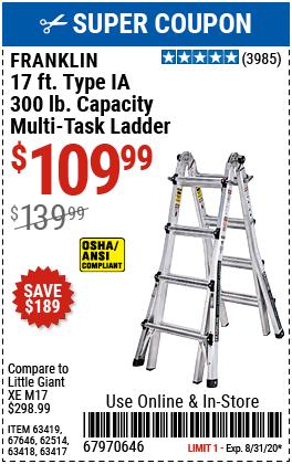 17 Ft. Type IA Multi-Task Ladder