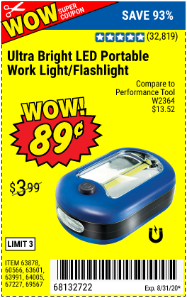 Ultra Bright LED Portable Worklight/Flashlight