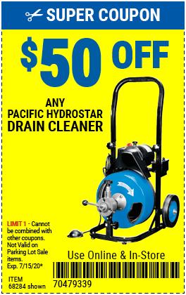 $50 off Any Hydrostar Drain Cleaner (2 skus)