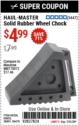 Solid Rubber Wheel Chock