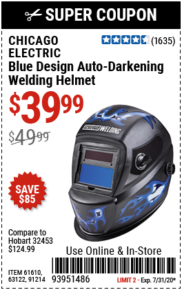 Blue Design Auto Darkening Welding Helmet