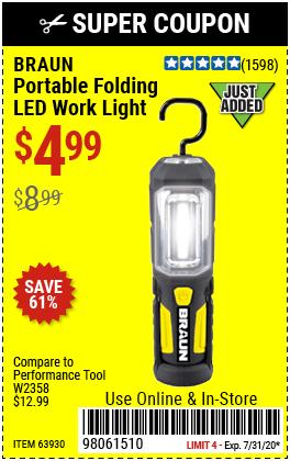 Portable Folding LED Work Light