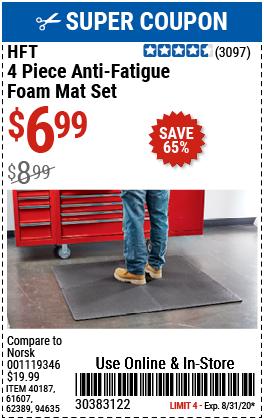 Anti-Fatigue Foam Mat Set, 4 Pc.