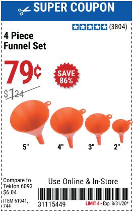 Funnel Set, 4 Pc.