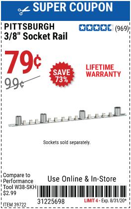 3/8 in. Socket Rail