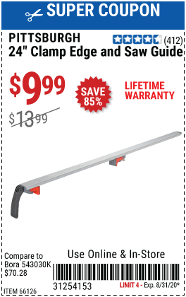 24 In. Clamp Edge and Saw Guide