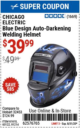Blue Design Auto Darkening Welding Helmet