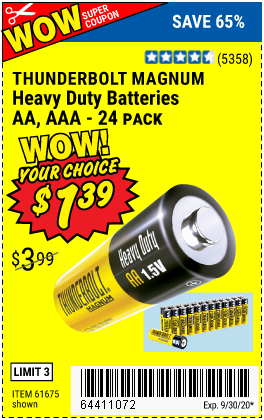 AA Heavy Duty Batteries, 24 Pk.