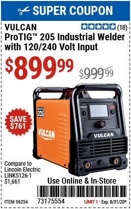 ProTIG™ 205 Industrial Welder with 120/240 Volt Input