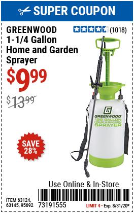1-1/4 gallon Home and Garden Sprayer