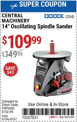 14 In. Oscillating Spindle Sander