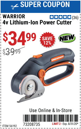 4V Lithium-Ion Cordless Power Cutter