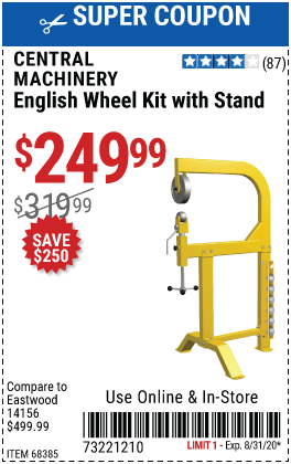 English Wheel Kit with Stand